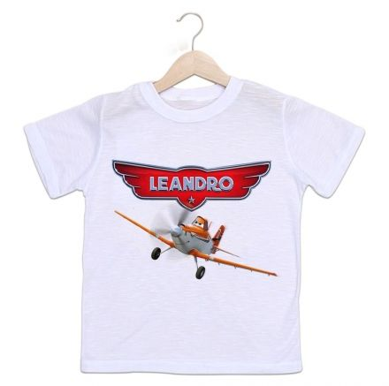 Camiseta Personalizada Infantil Aviões