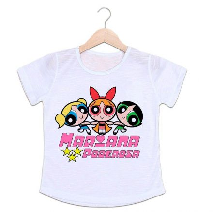 Camiseta Personalizada Infantil Meninas Super Poderosas CA0989