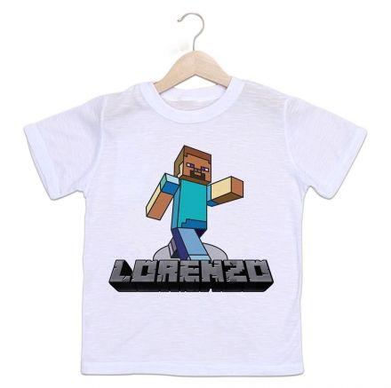 Camiseta Personalizada Infantil MineCraft