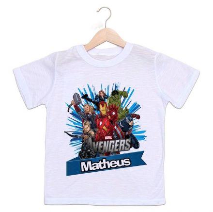 Camiseta Personalizada Infantil Os Vingadores