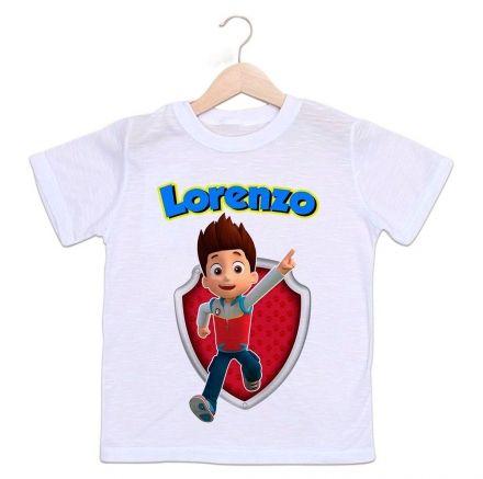 Camiseta Personalizada Infantil Patrulha Canina