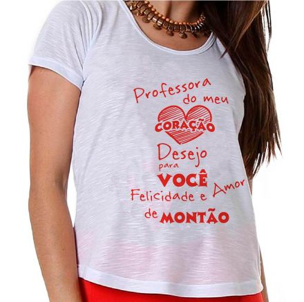 Camiseta Professora do meu Coração