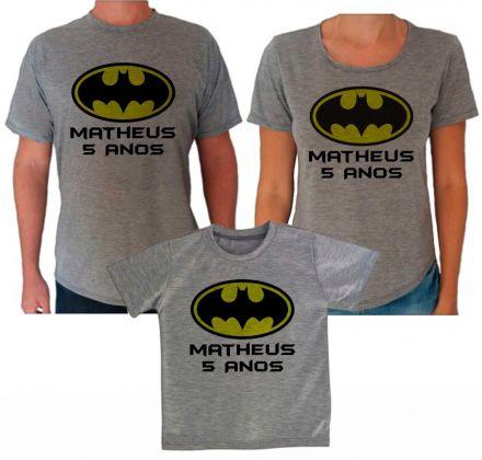 Camisetas Cinza Aniversário Batman CA0611