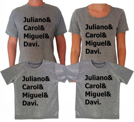 Camisetas Cinza com Nomes CA0615