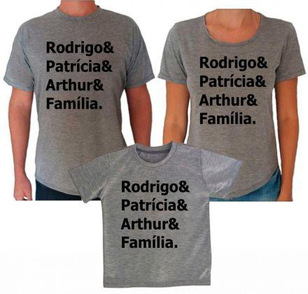 Camisetas Cinza com Nomes CA0616