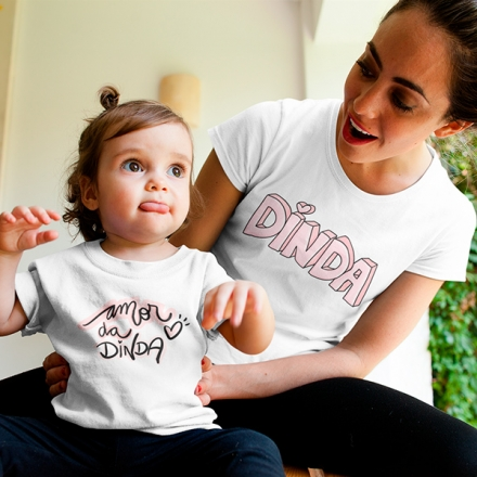 Camisetas Dinda e Afilhada - CA1233
