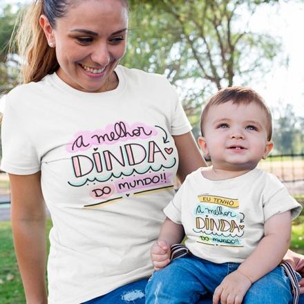 Camisetas Dinda e Afilhado - CA1237