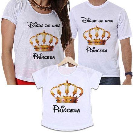 Camisetas Dindos Coroa Dourada