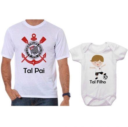 Camisetas e Body Tal Pai Tal Filho Corinthians