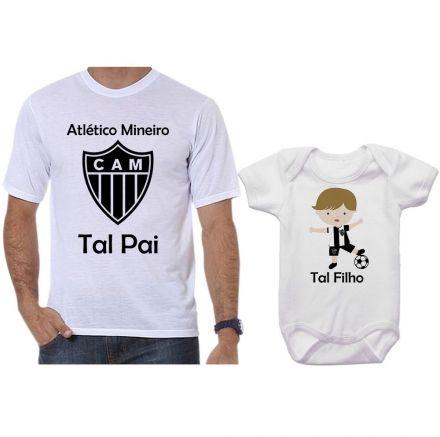 Camisetas e Body Tal Pai Tal Filho Futebol Time Atlético Mineiro