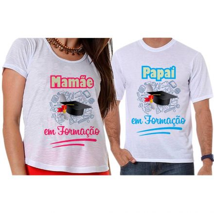 Camisetas Gestante Papai e Mamãe em Formação