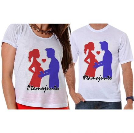 Camisetas Gestante Papai e Mamãe Grávidos #tamojunto