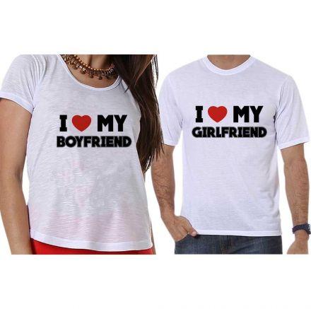 Camisetas I Love My Girlfriend Boyfriend