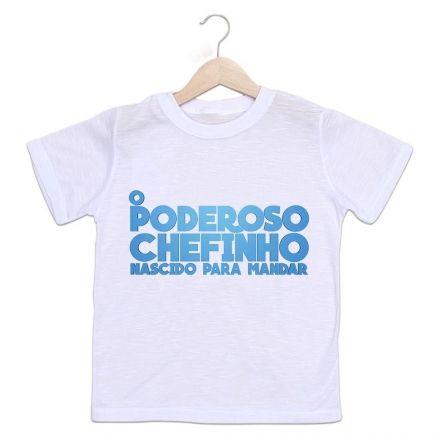 Camisetas Infantil O Poderoso Chefinho Nascido para Mandar