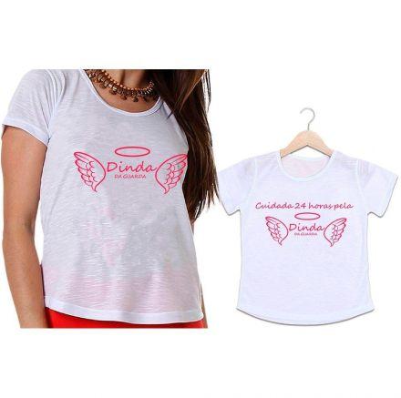Camisetas Madrinha e Afilhada Dinda da Guarda