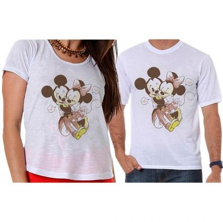 Camisetas Mickey e Minnie Apaixonados
