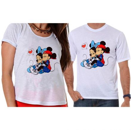Camisetas Mickey e Minnie Casal