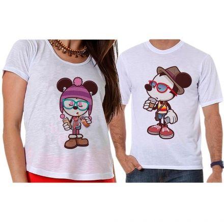 Camisetas Mickey e Minnie Casal Apaixonado
