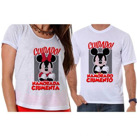 Camisetas Mickey e Minnie Namorados Ciumentos