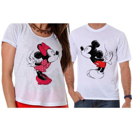 Camisetas Mickey e Minnie Namorados Criativos