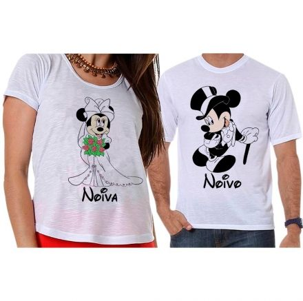 Camisetas Mickey e Minnie Noivado