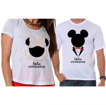 Camisetas Mickey e Minnie Noivos