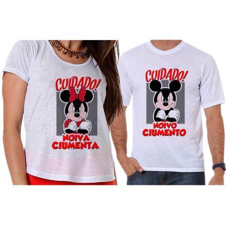 Camisetas Mickey e Minnie Noivos Ciumentos