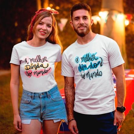 Camisetas Os Melhores Dindos do Mundo - CA1258