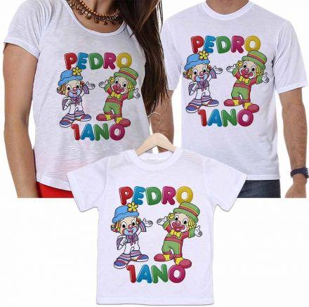 Camisetas Personalizadas Aniversário Tal Pai, Tal Mãe e Tal Filho Patati e Patatá