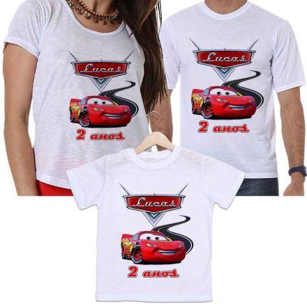 Camisetas Personalizadas Tal Pai, Tal Mãe e Tal Filho Aniversário Carros