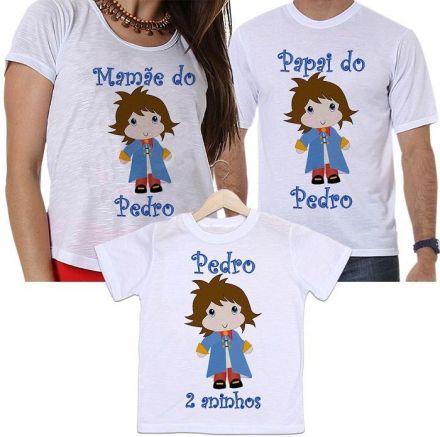 Camisetas Personalizadas Tal Pai, Tal Mãe e Tal Filho Aniversário O Pequeno Príncipe