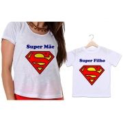 Camisetas Tal Mãe, Tal Filho Super Mãe e Super Filho
