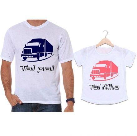 Camisetas Tal Pai Tal Filha Camioneiro