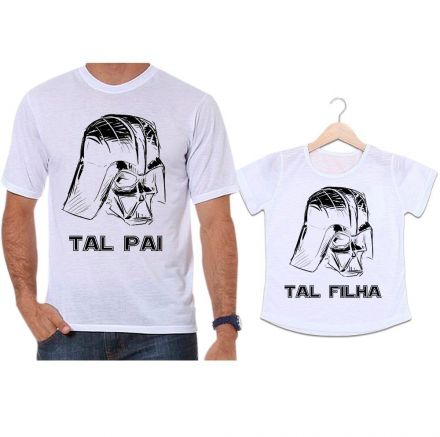 Camisetas Tal Pai Tal Filha Darth Vader Star Wars