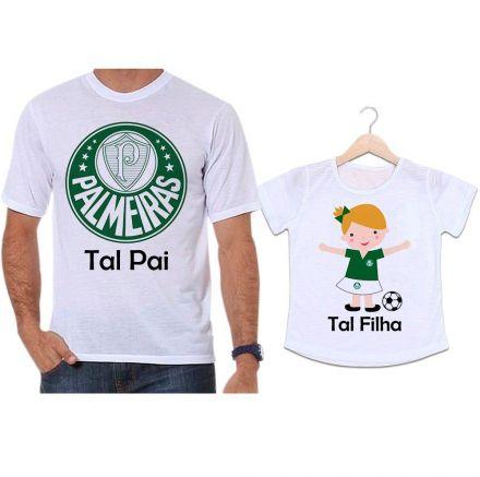 Camisetas Tal Pai Tal Filha Futebol Time Palmeiras