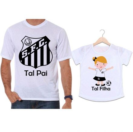 Camisetas Tal Pai Tal Filha Futebol Time Santos