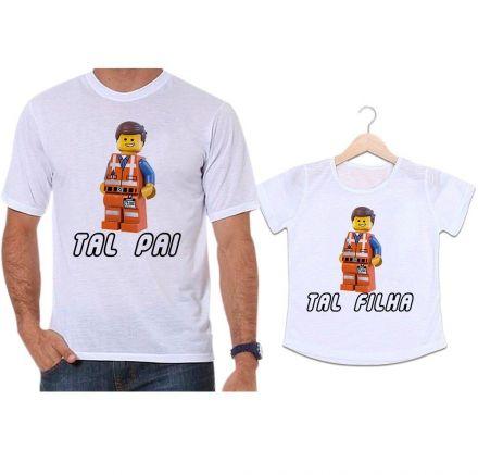 Camisetas Tal Pai Tal Filha Lego