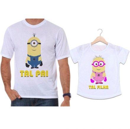 Camisetas Tal Pai Tal Filha Minions