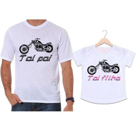Camisetas Tal Pai Tal Filha Moto