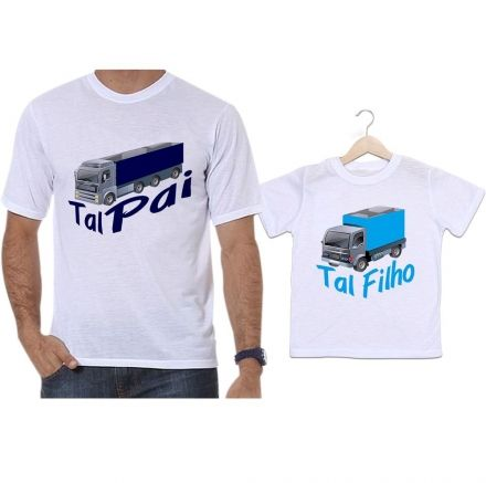 Camisetas Tal Pai Tal Filho Caminhão Camioneiro
