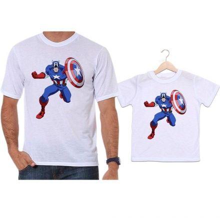 Camisetas Tal Pai Tal Filho Capitão América