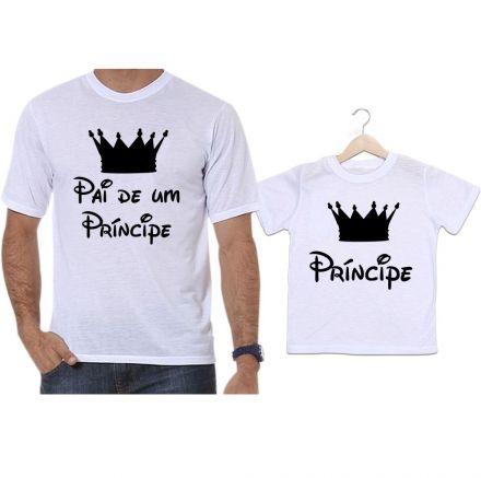 Camisetas Tal Pai Tal Filho Coroa Preta Pai de Um Príncipe