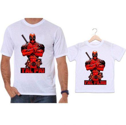 Camisetas Tal Pai Tal Filho Deadpool