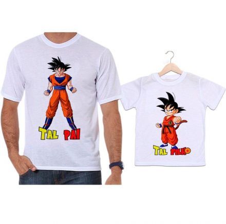 Camisetas Tal Pai Tal Filho Dragon Ball Z Goku