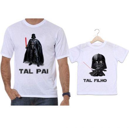 Camisetas Tal Pai Tal Filho Filme Star Wars Darth Vader