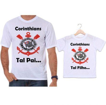 Camisetas Tal Pai Tal Filho Futebol Corinthians