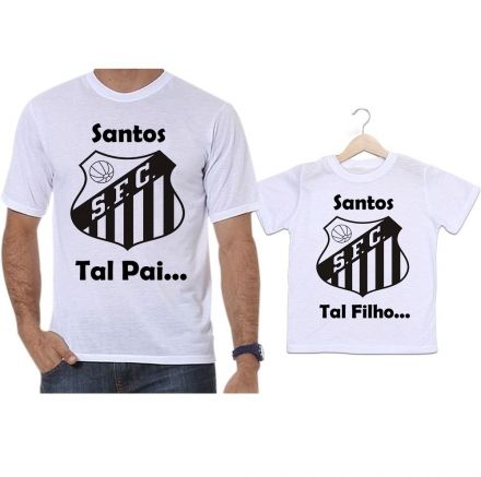 Camisetas Tal Pai Tal Filho Futebol Santos