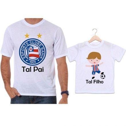 Camisetas Tal Pai Tal Filho Futebol Time Bahia