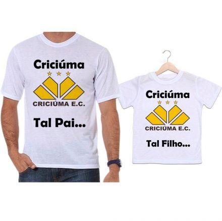 Camisetas Tal Pai Tal Filho Futebol Time Criciúma