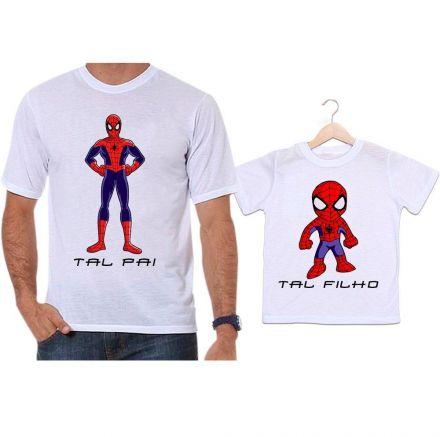 Camisetas Tal Pai Tal Filho Homem Aranha Super Herói